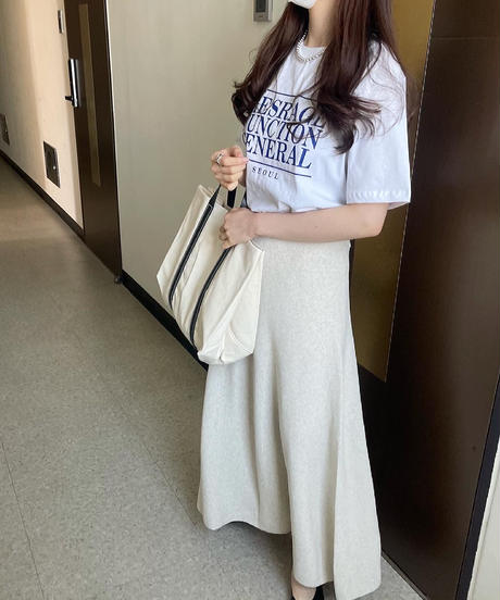 (original) SUMMER knit long Skirt (2color)