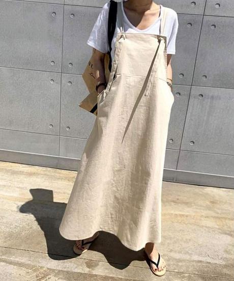 Linen Jumper Skirt (2Color)