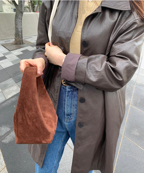 ecoleather over jacket (2color)