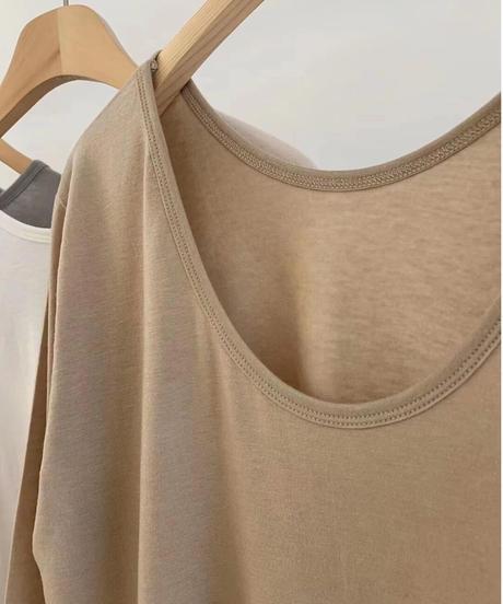 Backopen 2way tshirts(6color)