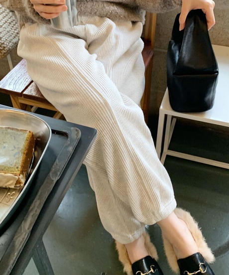 Waffle pants (2color)