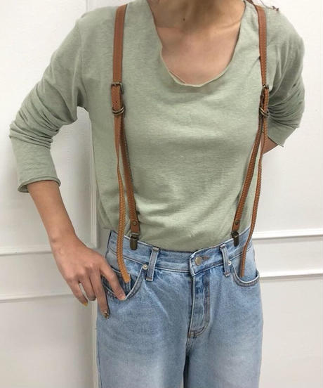 real leather suspender