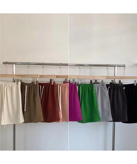 cotton summer harf pants (9color)