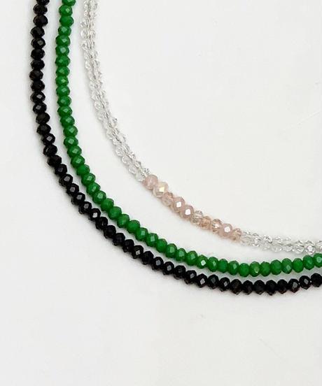 color beads necklace( 3color)