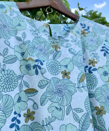 A4ダウンロード版 着物リメイクパターン:Tブラウス半袖  Lサイズ(作り方つき)
