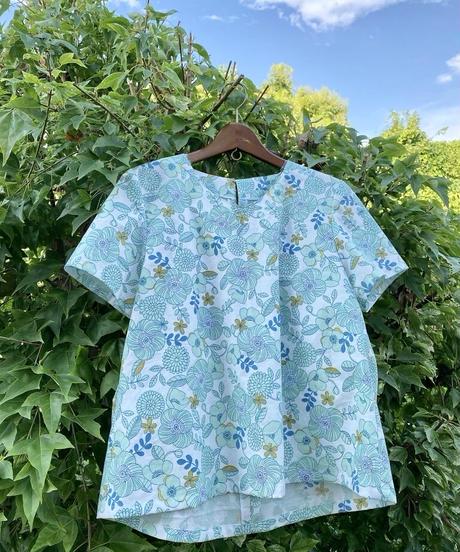 Renewal着物リメイクパターン:Tブラウス半袖(縫い代つき、作り方つき)