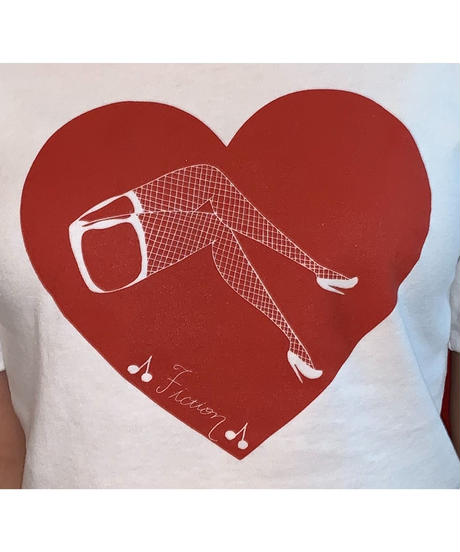 """MY HEART""Printed Short T"