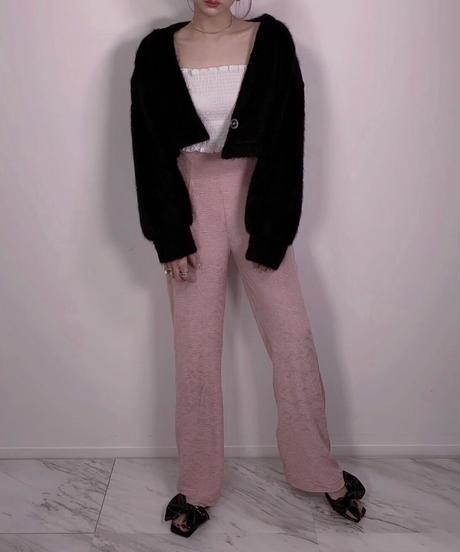 クリンクルマテリアルハイウェストパンツ Crinkle Material High Waist Pants