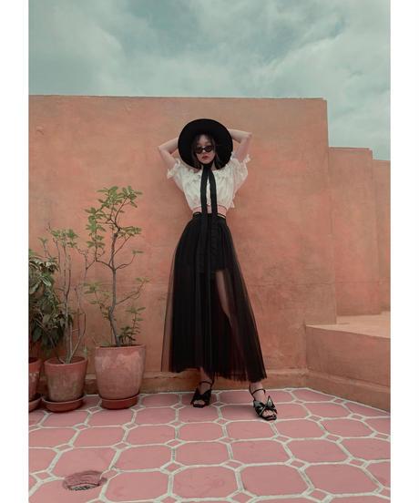 スリットチュールスカート Slit Tulle Skirt
