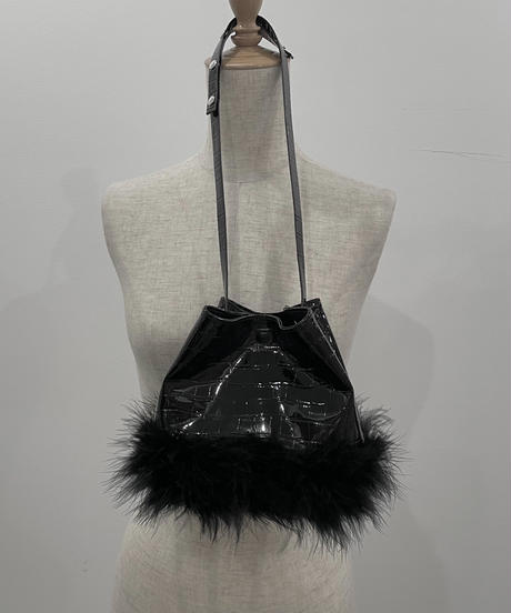 エナメルクロコフェザーバック / Enamel Croco Feather Bag