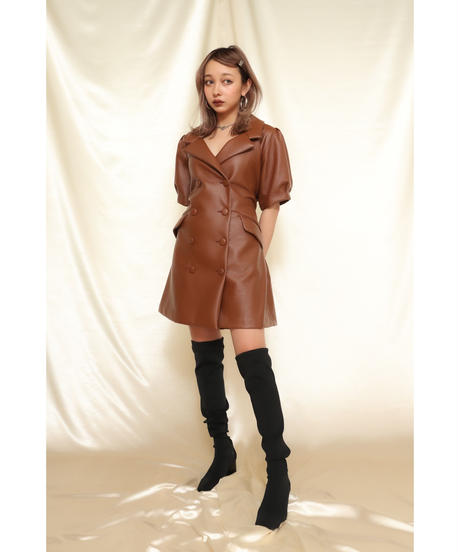 Fake Leather JK One-Piece