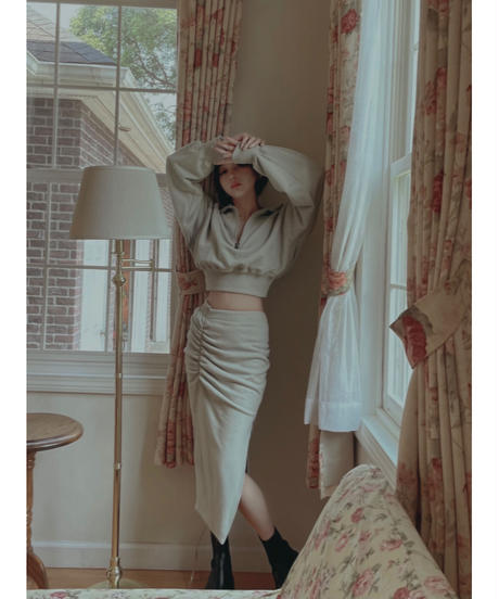 スリットスウェットスカート /Slit Sweat Skirt