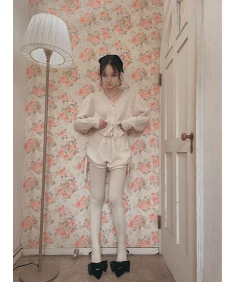 サイドリボンニットショートパンツ / Side Ribbon Knit Short Pants