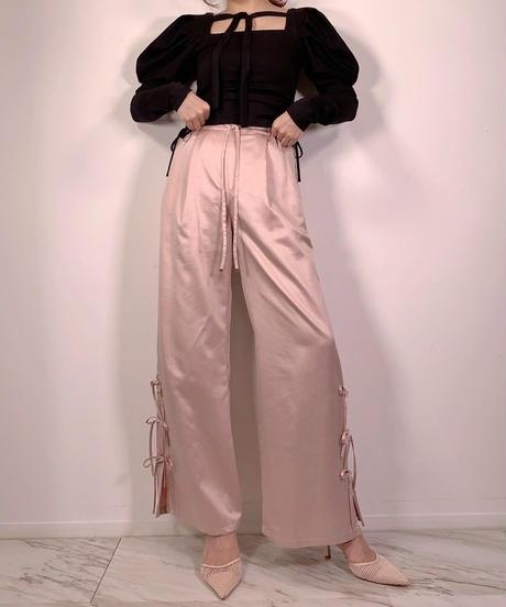 リボンスリットパンツ Ribbon Slit Pants
