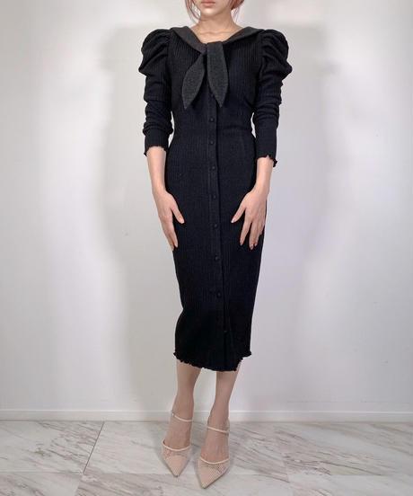 Sailor Collar Gown One-piece  セーラーカラーガウンワンピース