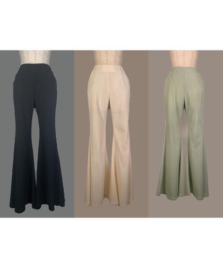 スプリングハイウェストフレアパンツ Spring High Waist Flare Pants