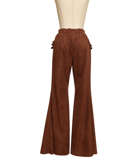 Fake Suede Flare Pants