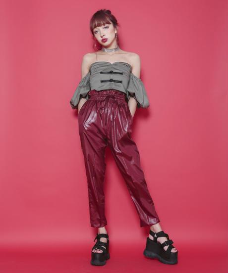 Shirring High-waist pants