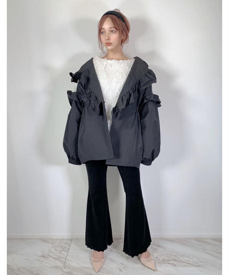 フリルカラージャケット Raffled Collar Jacket