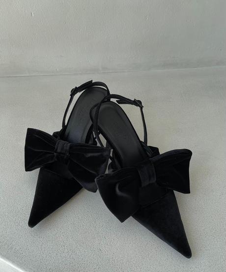 スリングバックリボンパンプス /Slingback Ribbon Pumps