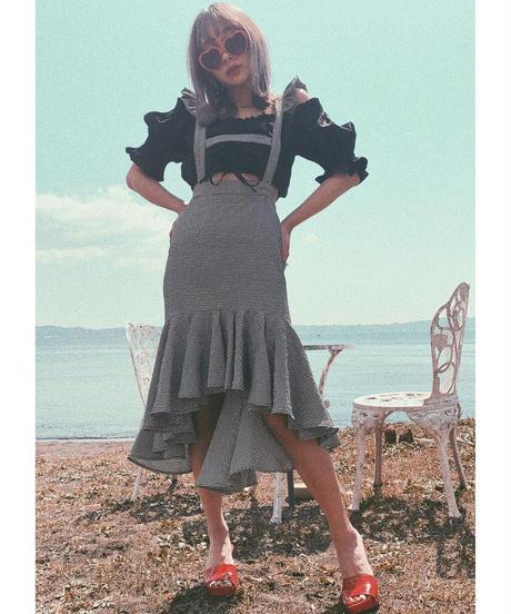 Gingham Check Skirt