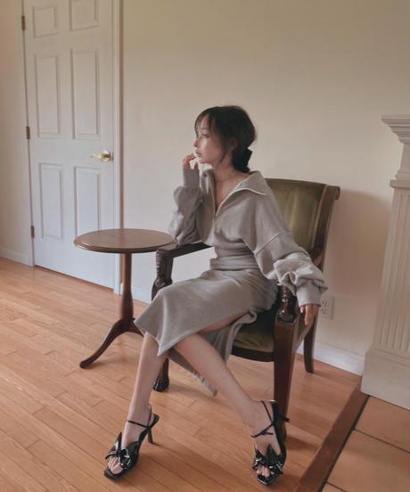 【セット割引】クロップドスウェット+スリットスウェットスカート
