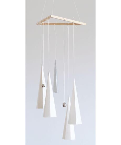 ゆれる三角【ホワイト】- Mobile -   decorating my favorites ( white )