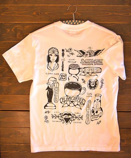 フラップコーヒーオリジナルTシャツ白 FLAP COFFFEE ORIGINAL T-SHIRT WHITE