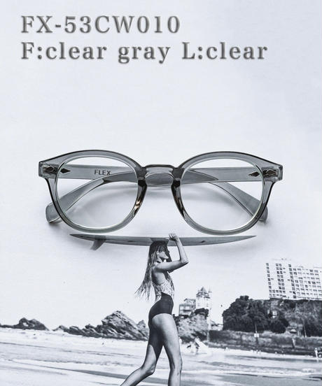 【3color】classic wellington clear sunglasses【53mm】