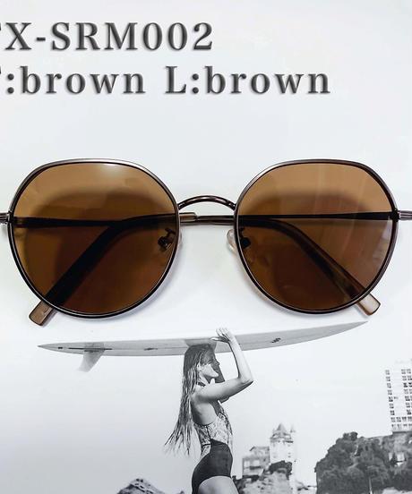 【4color】square round metal sunglasses