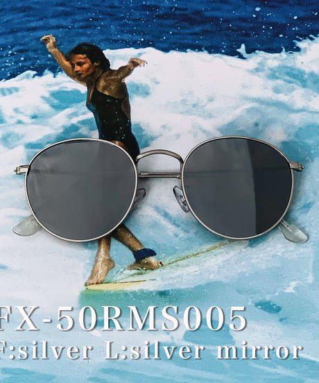 【4color】round metal mirror sunglasses(53mm)