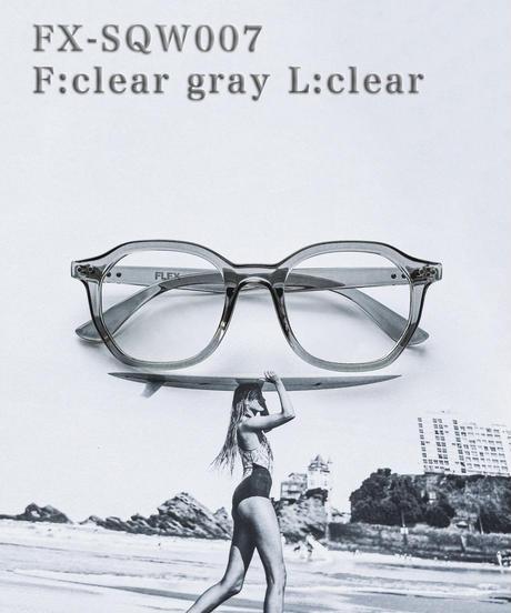 【3color】square wellington clear sunglasses