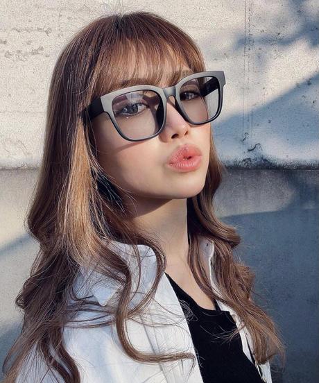 【4color】square wide sunglasses