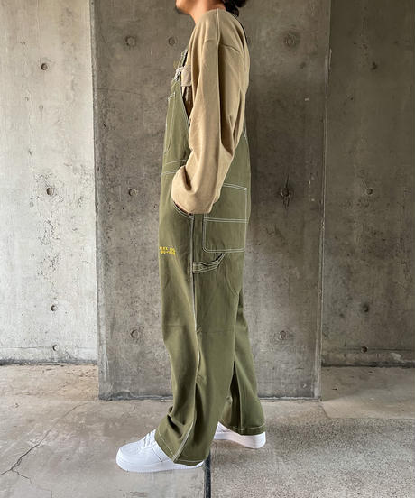 【3color】duck wide overall