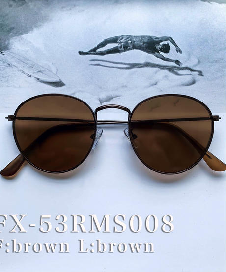 【5color】round metal color sunglasses(53mm)