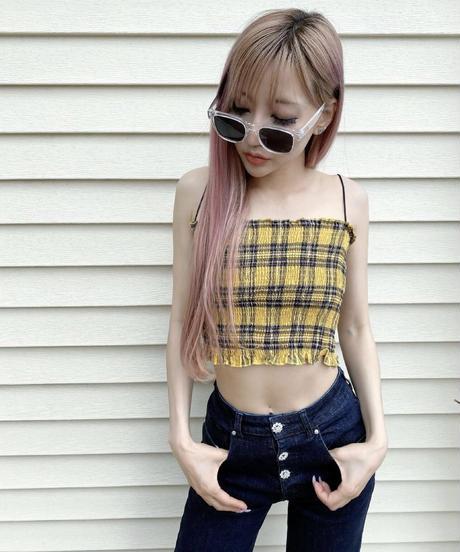 【5color】 square wide sunglasses