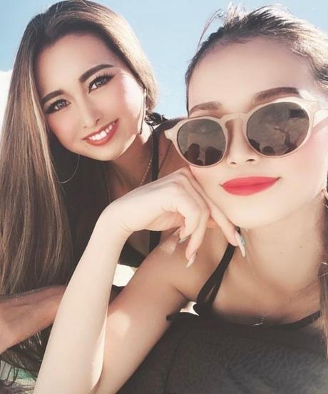 【3color】square round sunglasses