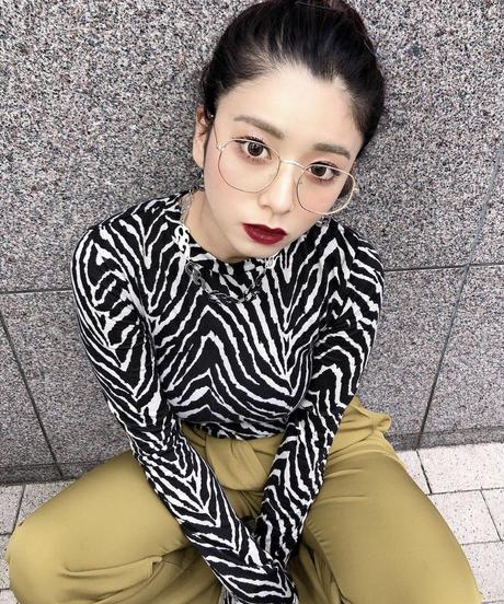【3color】square metal sunglasses