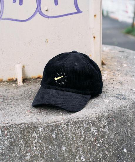 DISCOVERY キャップ【コーデュロイ生地ブラック】