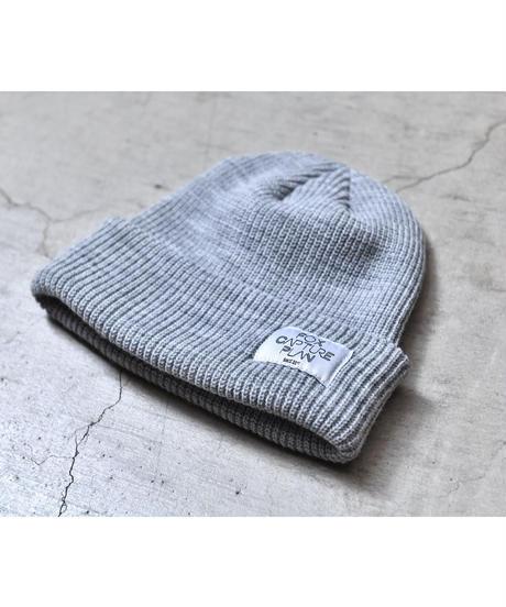 タグ付きニット帽【グレー】