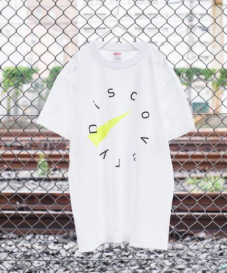 DISCOVERYモチーフ・デザインTシャツ【ホワイト】*Mサイズ無