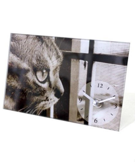 GLASS  ART  PICTURE  CLOCK (CAT B)