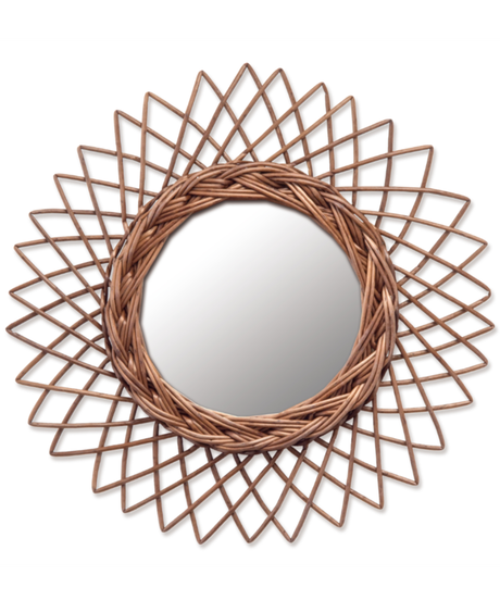 WICKER Mirror (Sサイズ)