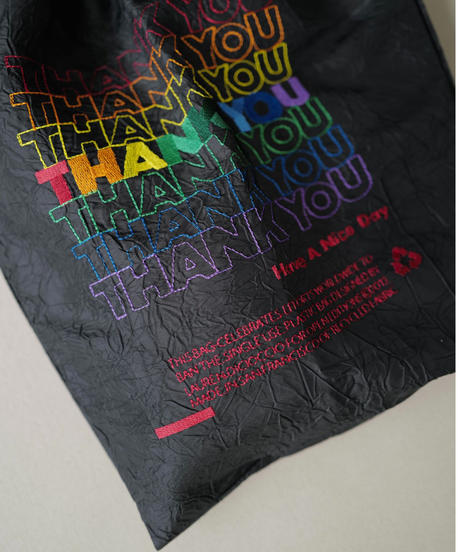 【 OPEN EDITIONS 】 THANK YOU TOTE / Black Rainbow