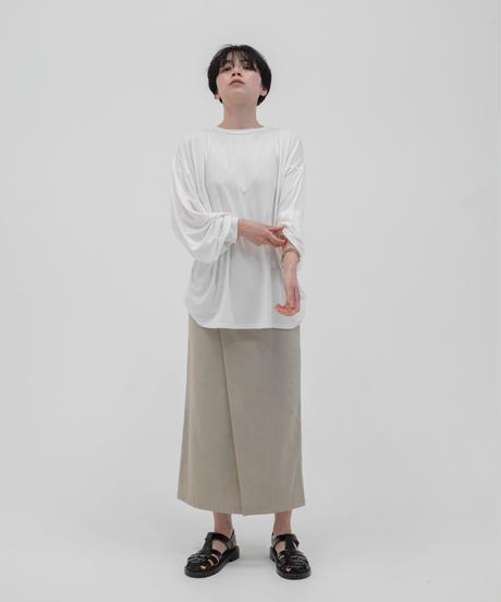 リネンブレンドラップスカート / OATMEAL