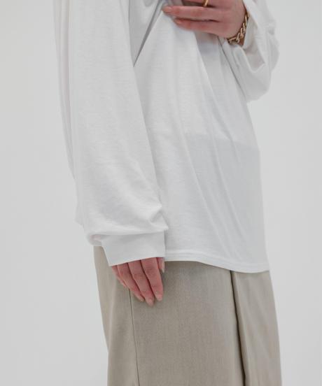 バックスピンドルカットソー / WHITE