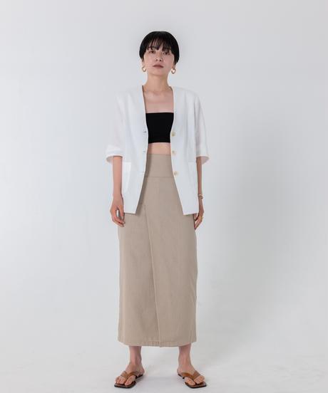 リネンライクシャツジャケット / WHITE