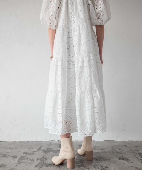 レースティアードワンピース / WHITE