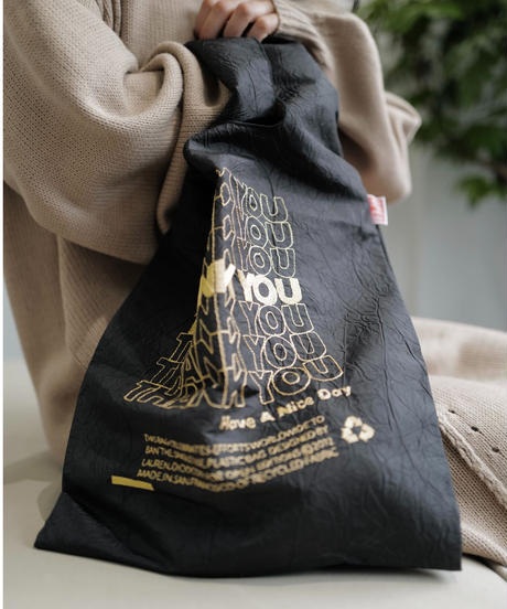 【 OPEN EDITIONS 】THANK YOU TOTE / Black Gold