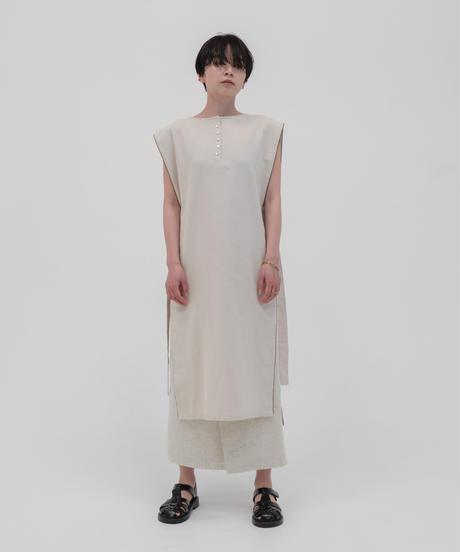 リネンブレンドラップスカート / BEIGE